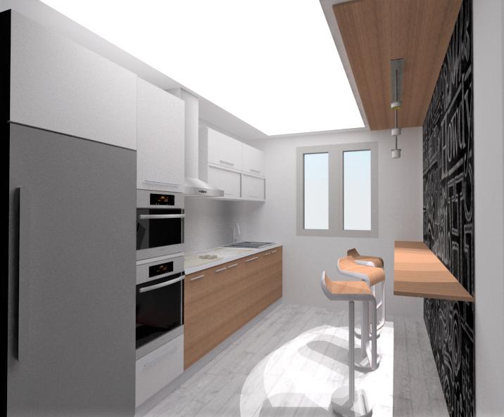 Cocina diseño gráfico 3D
